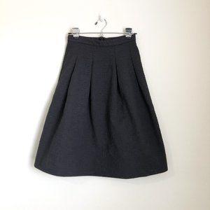 H&M Black A Line Knee Length Skirt